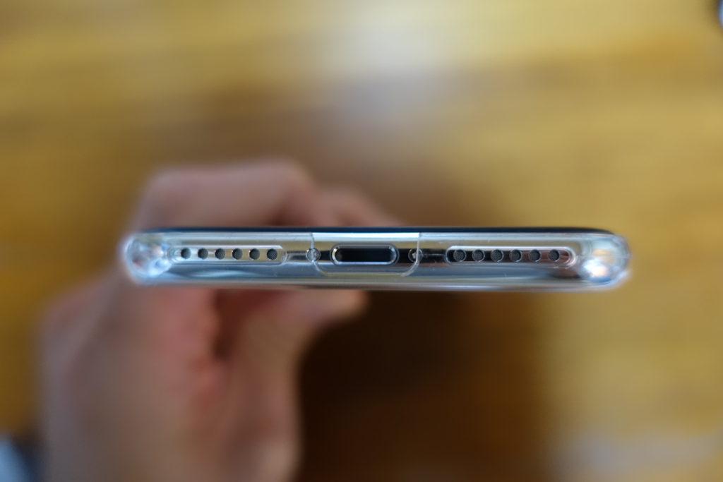 iphonex 極薄ケース 下